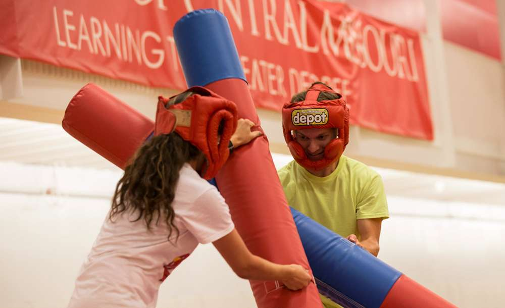 students jousting at Week of Welcome