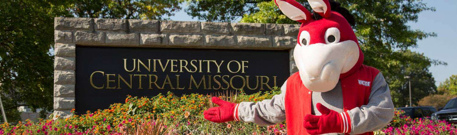 MO the Mule and UCM Sign