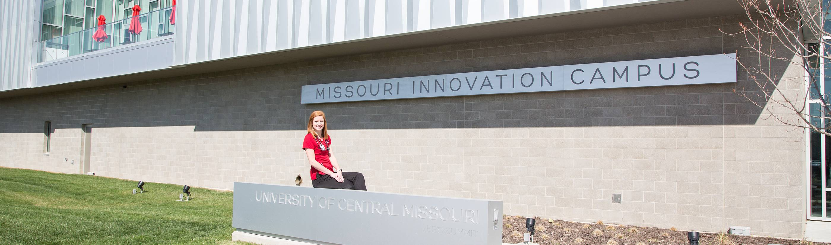 Missouri Innovation Campus with Student