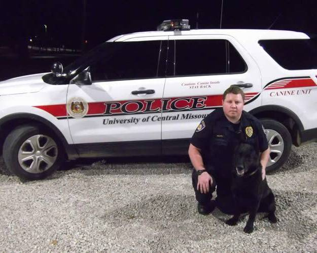 Officer Brown with K9 Echo